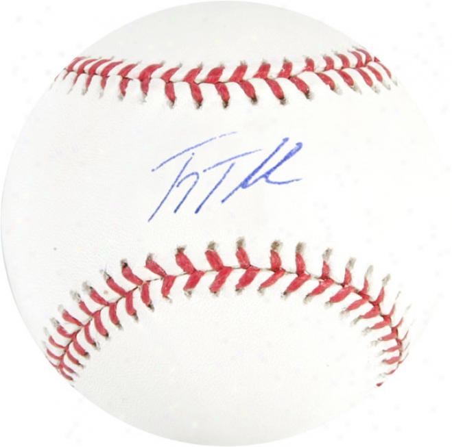 Troy Tulowitzki Autographed Baseball