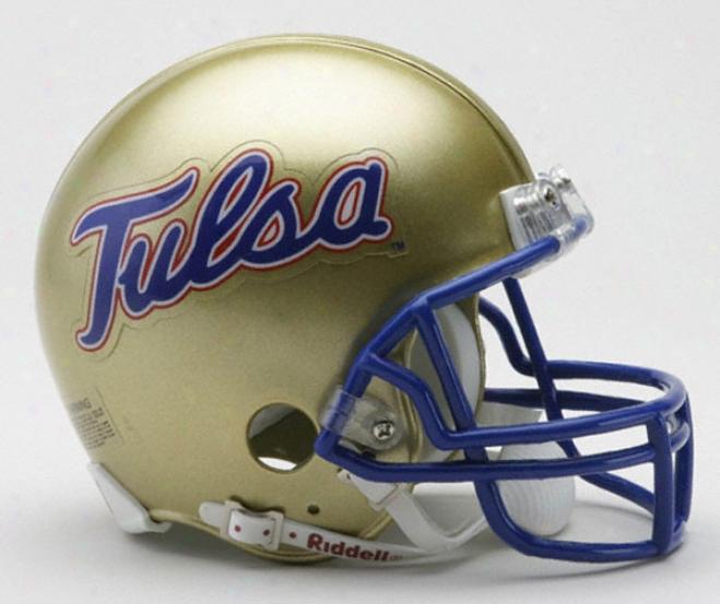 Tulsa Golden Hurricane Riddell Mini Helmet