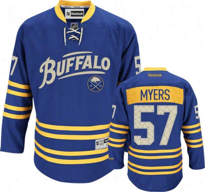 Tyler Myers Jersey: Reebok Alternate #57 Buffalo Sabrs Premier Jersey
