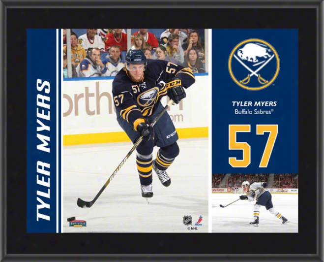 Tyler Myers Plaque  Details: Buffalo Sabres, Sublimated, 10x13, Nhl Plaque