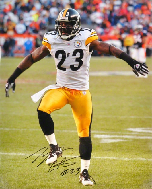Tyrone Carter Pittsburh Steelers - Celebrating - 16x20 Autographed Photograph