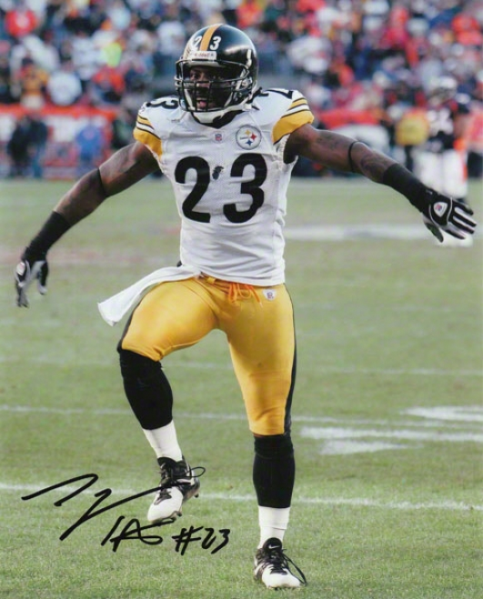 Tyrone Carter Pittsburgh Steelers - Celebrating - 8x10 Autographed Photograph