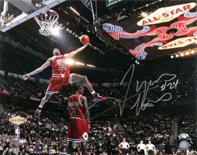 Tyrus Thomas Chicago Bulls - Slam Dunk Contest - Autographed 16x20 Photograph