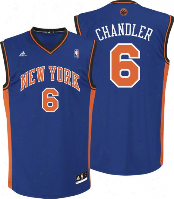 Tyson Chandler Jersey: Adidas Blue Replica #6 New York Knicks Jersey