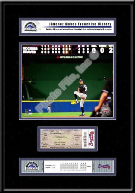 Ubaldo Jimenez No-hitter Replica Ticket Frame