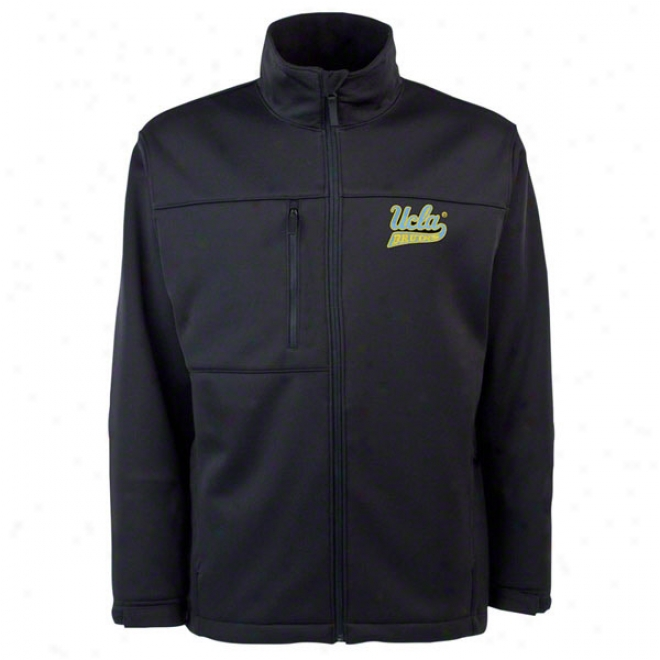 Ucla Bruins Black Traverse Bonded Soft Shell Jacket