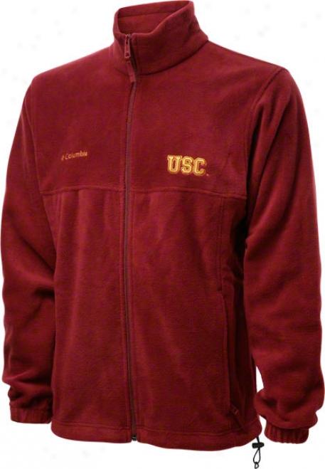 Usc Trojans Cardinal Columbia Flanker Full-zip Jacket