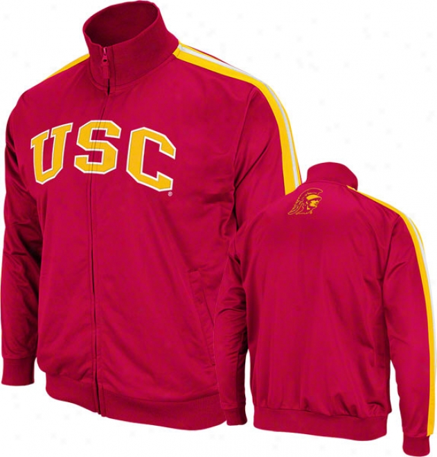 Usc Trojans Crimson Pace Teack Jacket