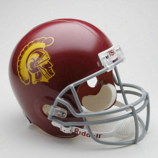 Usc Trojans Deluxe Autograph copy Riddell Helmet