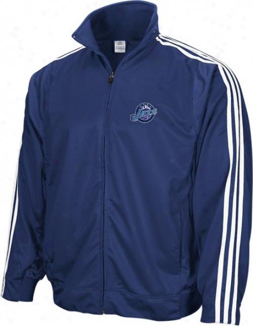 Utah Jazz Adidas 3-stripe Track Jacket