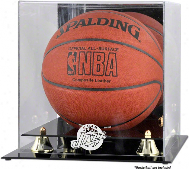 Utau Jazz Auspicious Classic Logo Basketball Display Case