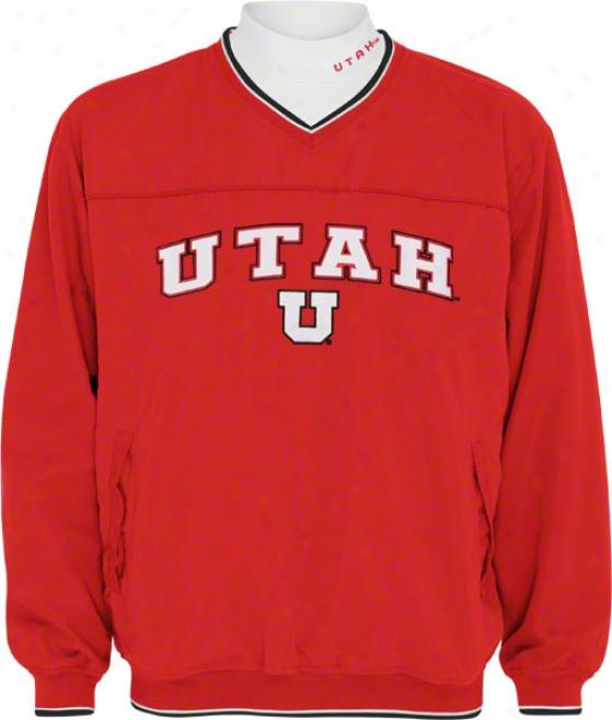 Utah Utes Windshirt/long Sleeve Mockneck Combo Pack