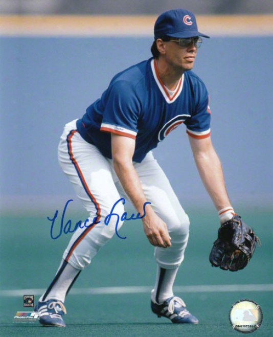 Vance Law Chicago Cubs Autogrraphed 8x10 Photo