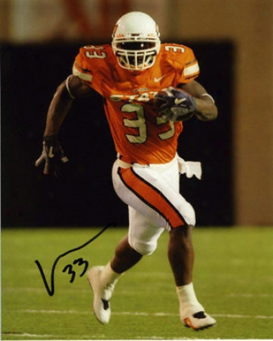 Vernand Morency Oklahoma State Cowboys 8x10 Autographed Photograph