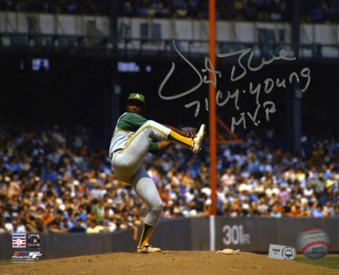 Vida Blue Autographed Photograph  Details: 8x10, Oakland Athletics