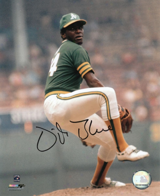 Vida Blue Oakland Athletics - Pitching - Autographed 8x10 Photograph