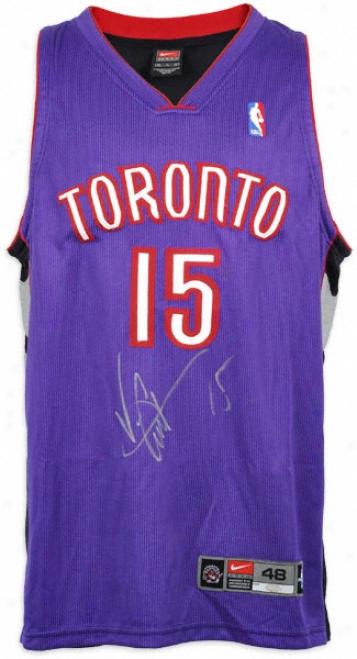 Vince Carter Autographed Jersey  Details: Toronto Rapors, Away