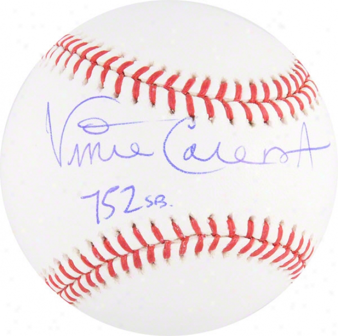 Vince Coleman Autographed Baseball  Details: St. Louis Cardinals, 752 Sb Inscription