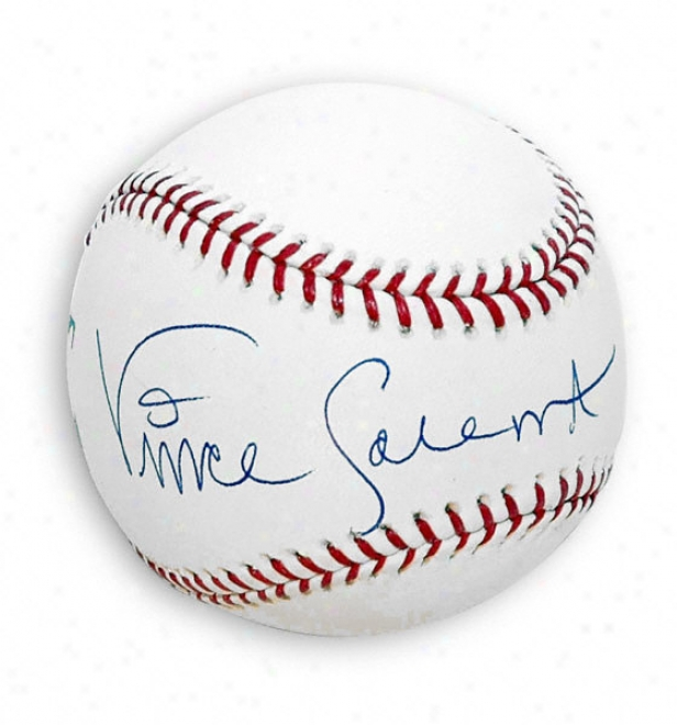 Vince Coleman Autographed Baseball With ''1985 Nl Roy'' Inscriiption