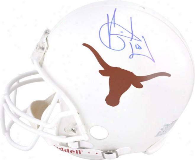 Vince Young Autographed Prp-line Helmet  Details: Texas Longhorns, Authentic Riddell Helmet