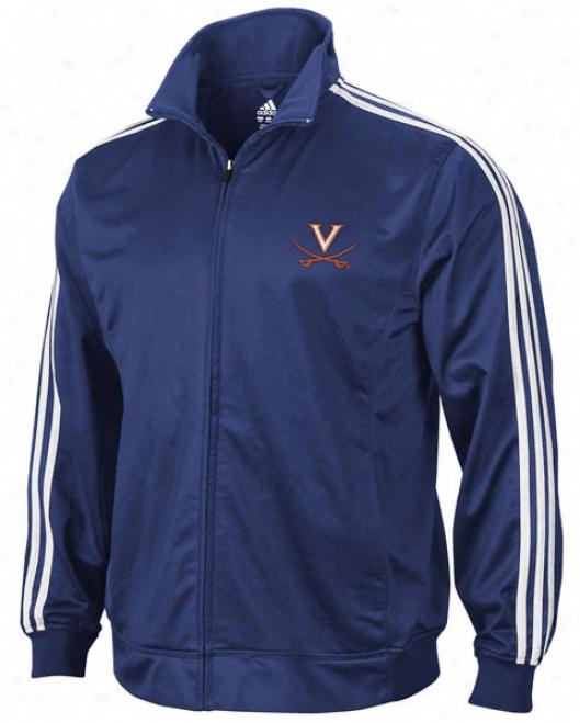 Virginia Cavaliers Adidas Navy 3-striep Track Jacket