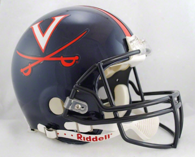 Virginia Cavaliers Authentic Pro Line Riddell Full Size Hwlmet