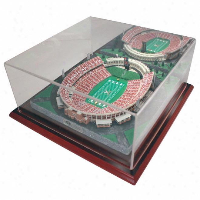 Virginia Cavaliers Scott Stadium Replica With Case - Platinum Serjes