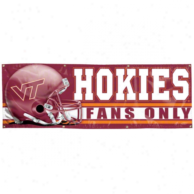 Virginia Tech Hokies 2x6 Vinyl Banner