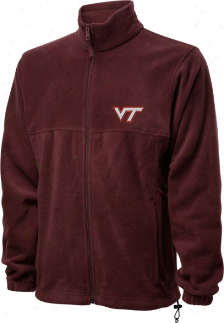 Virginia Tech Hokies Maroon Columbia Flanker Full-zip Jacket