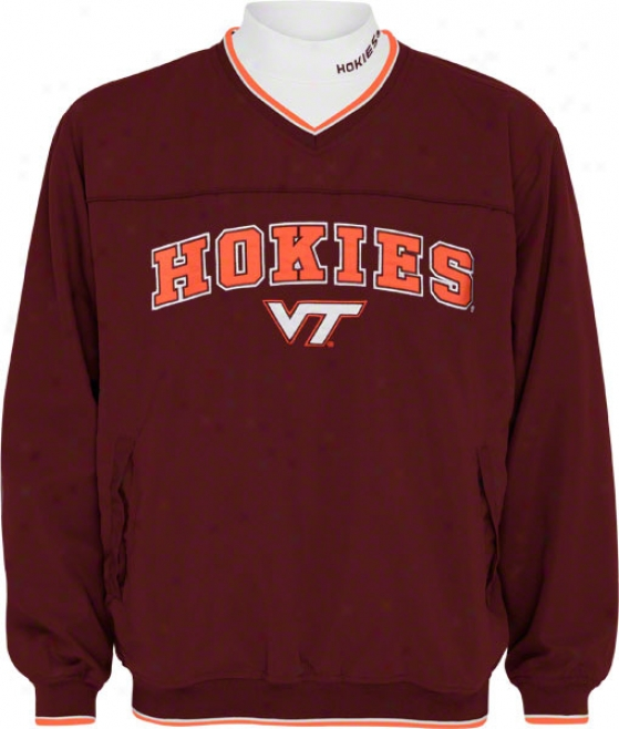 Virginia Tech Hokies Windshirt/long Soeeve Mockneck Combo Collection