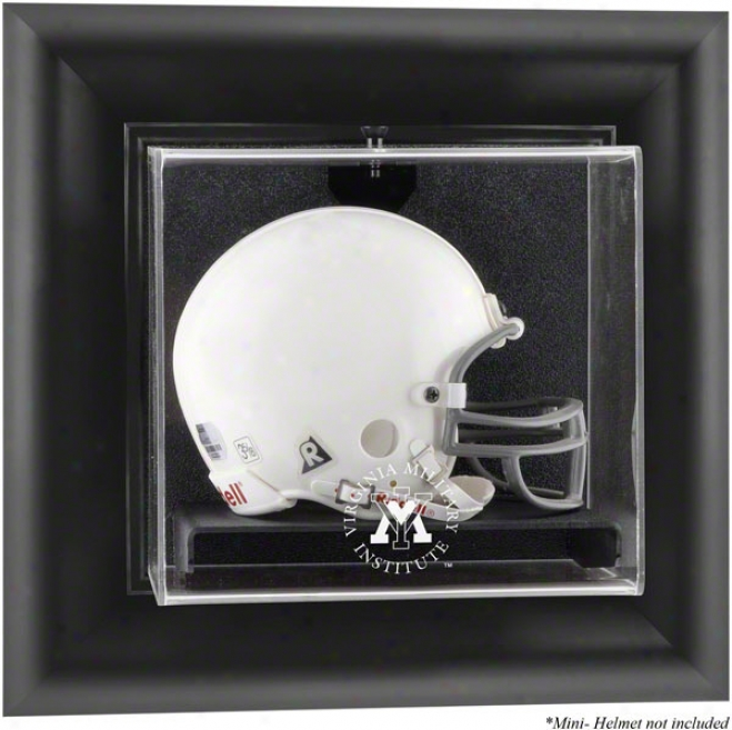Vmi Keydets Framed Wall Mounted Logo Mini Helmet Display Case