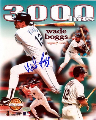 Wade Boggs 16x20 Autographed Limited Edition 3000 Hits Photograph