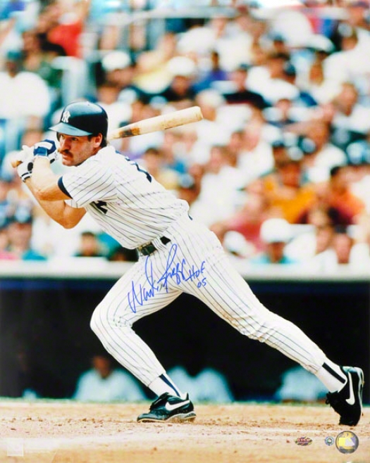 Wade Boggs New York Yankees Autographed 16x20 Photograph With Hof Inscription