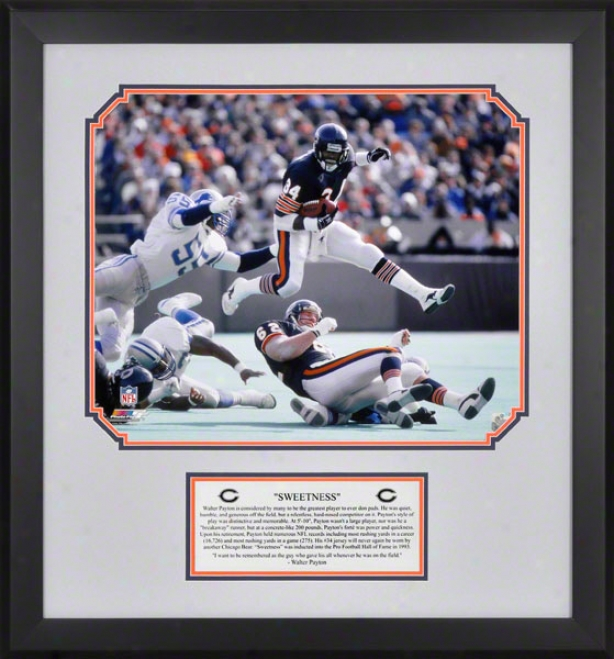 Walter Payton Chicago Bears Framed 16x20 Photo W/ EngravedP late