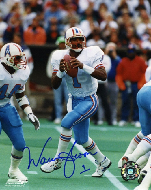 Warren Moon Houston Oilers Autographed 8x10 Photograph