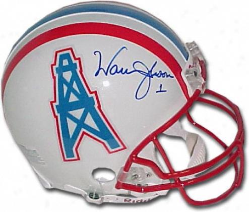 Warren Moon Houston Oilers Autographed Helm