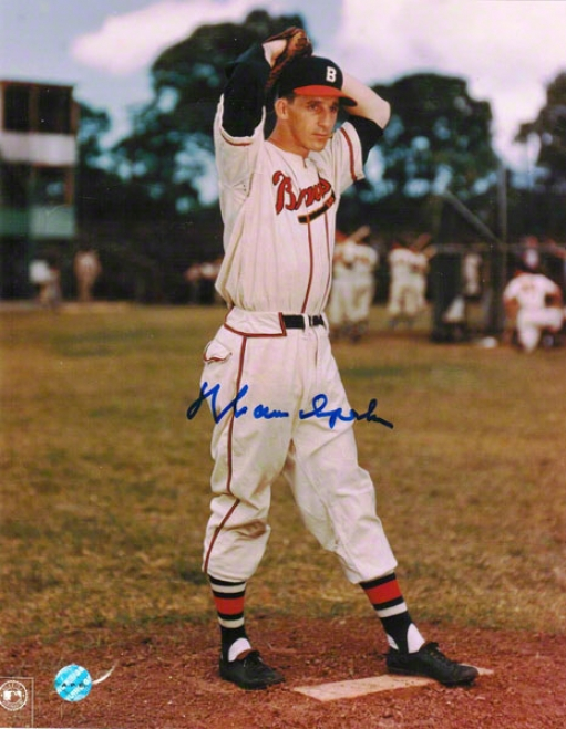 Warren Spahn Milwaukee Braves uAtographed 8x10 Photo