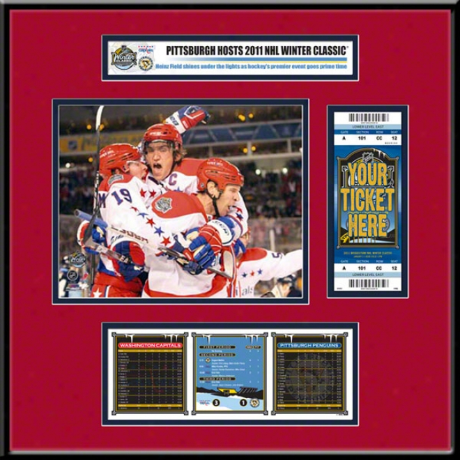 Wzshington Capitals 2011 Winter Classic Ticket Frame Jr.