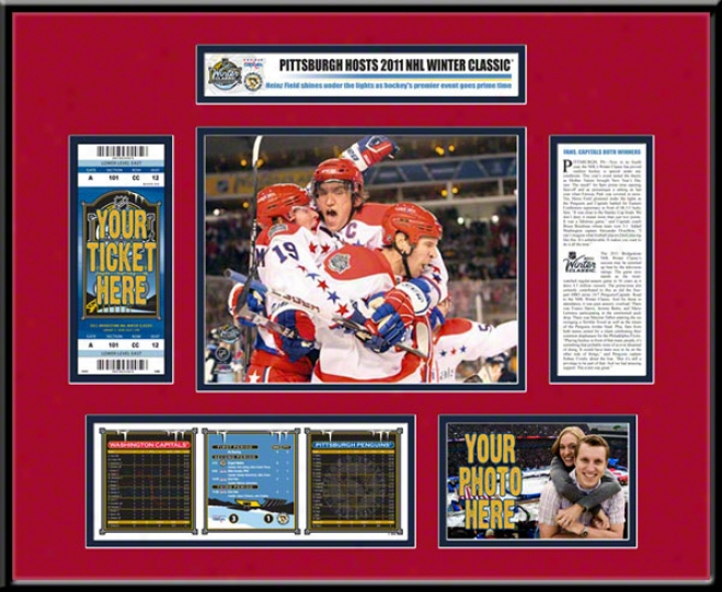 Washington Capitals 2011 Winter Elegant Ticket Frame