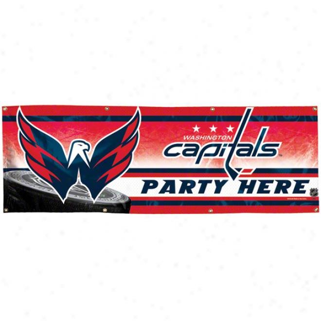 Washington Capitals 2x6 Vinyl Banner