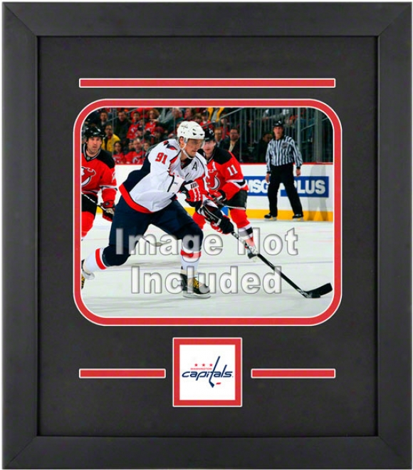 Washington Capitals 8x10 Horzontal Setup Frame With Team Logo