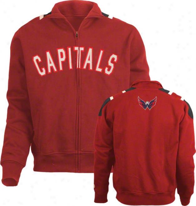 Washington Capitals Carbon Full-zkp Track Jacket