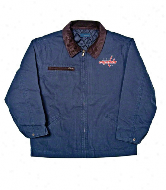 Washington Capitals Jacket: Blue Reebok Tradesman Jacket