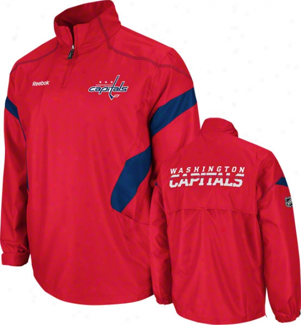 Washington Capitals Red Centwr Ice 1/4 Zip Hot Jerkin