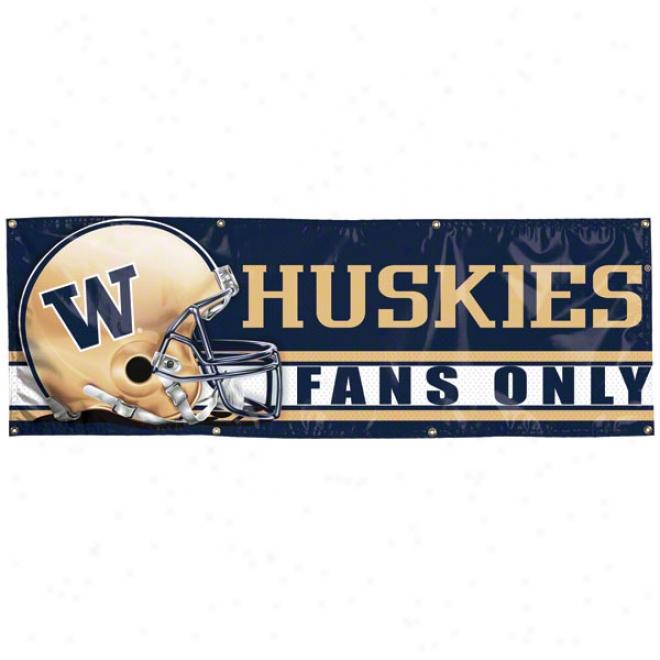 Washington Huskies 2x6 Vinyl Banner