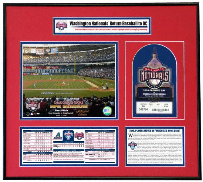 Washington Natoinals 2005 Opening Day Ticket Frame