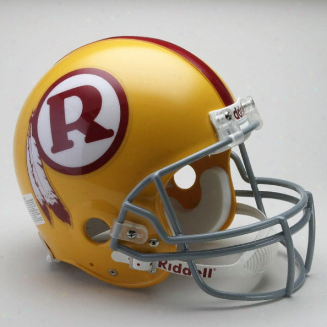 Washington Rsdskins 1970-1971 Authentic Pro Lineage Riddell Throwback Fill Size Helmet