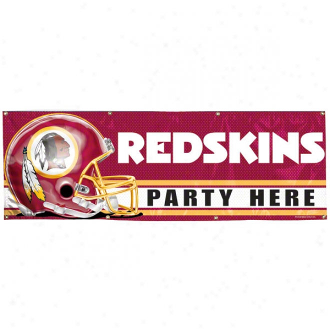 Washingtln Redskins 2x6 Vinyl Banner