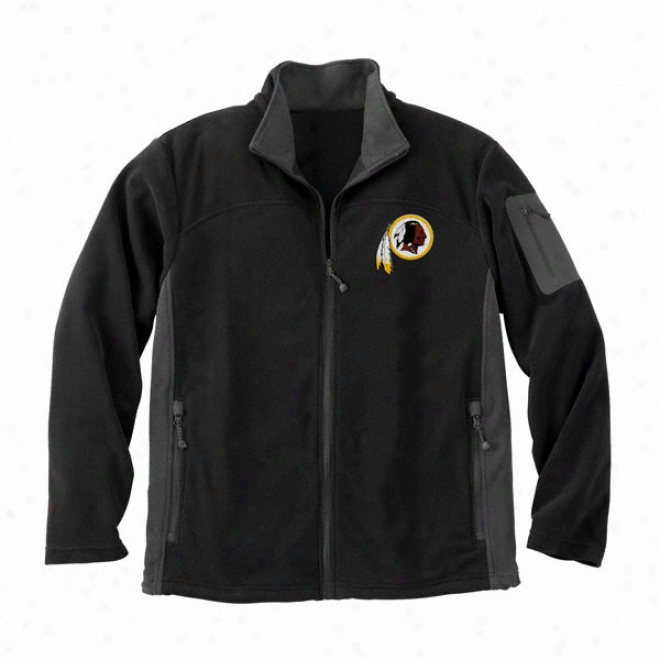Washington Resdkins Black Full Zip Micro Fleece Jacket