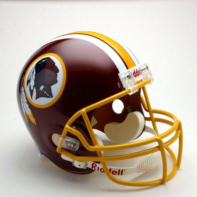 Washington Redskins Deluxe Replica Riddell Full Size Helmet
